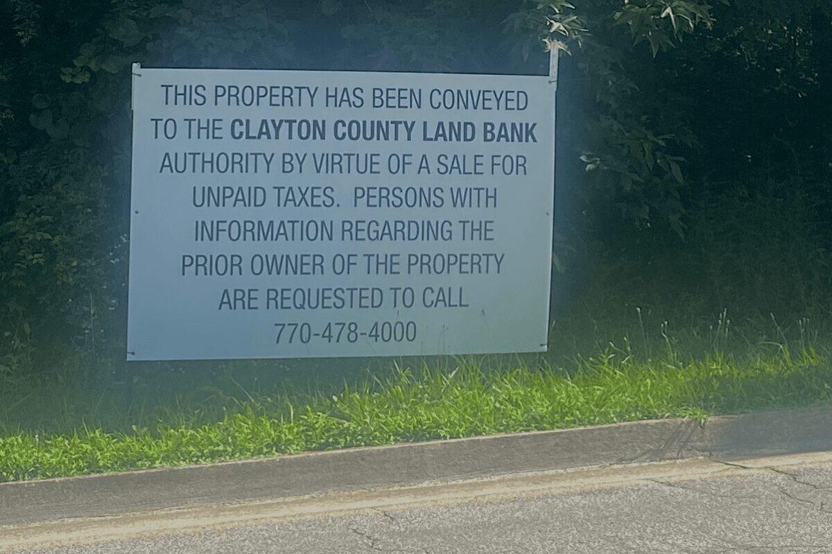 Clayton County Land Bank sign