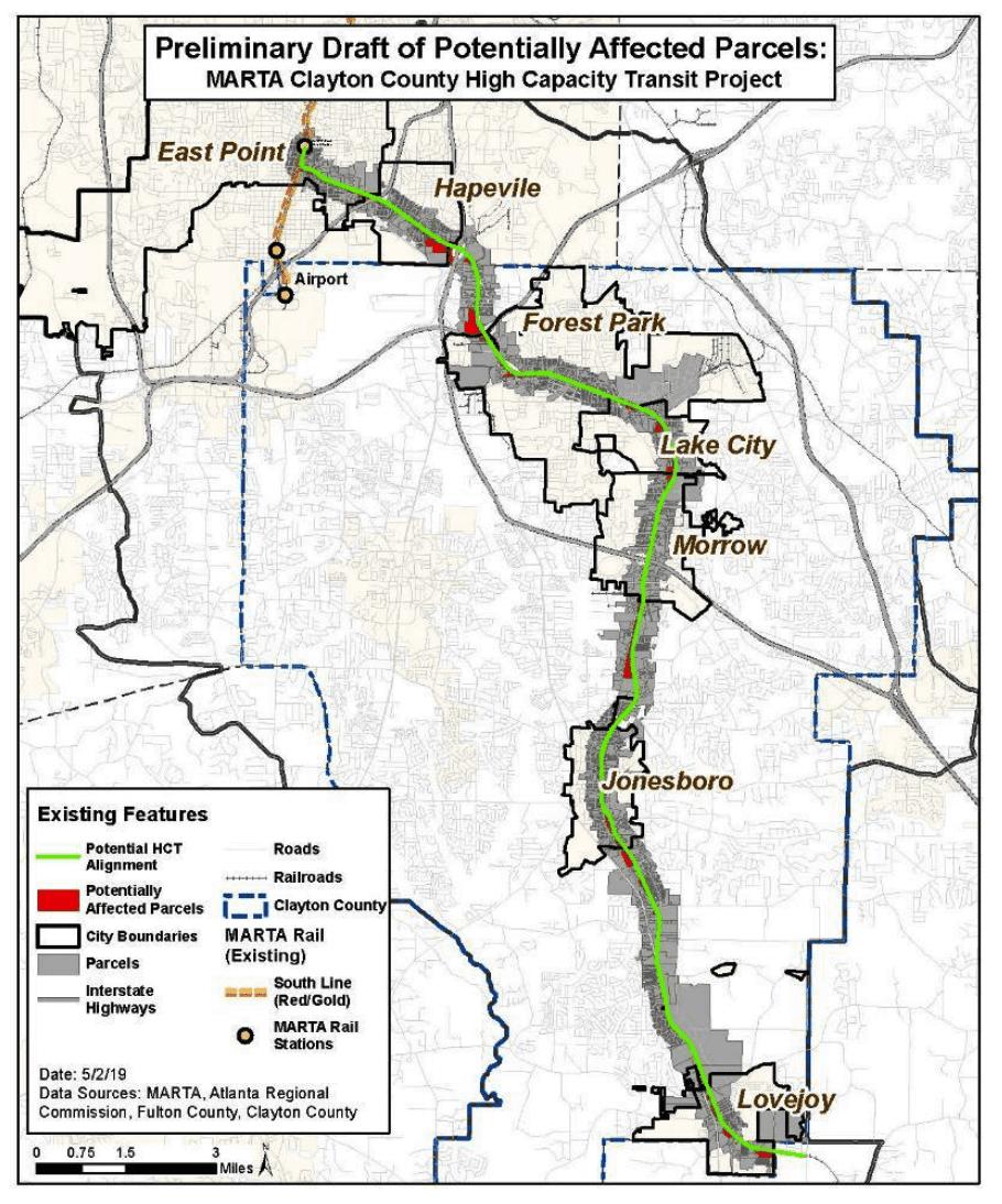 MARTA proposed commuter rail map